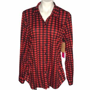NEW!!!  Maternity plaid flannel like button down